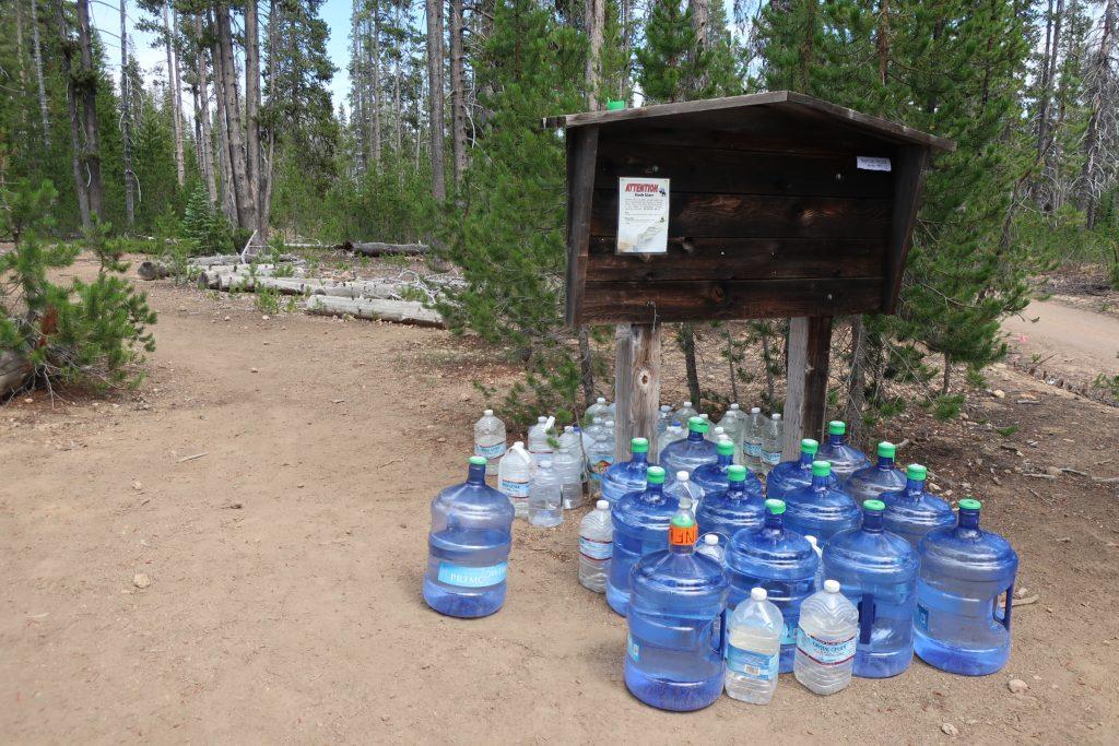 Zásoby vody na trailu